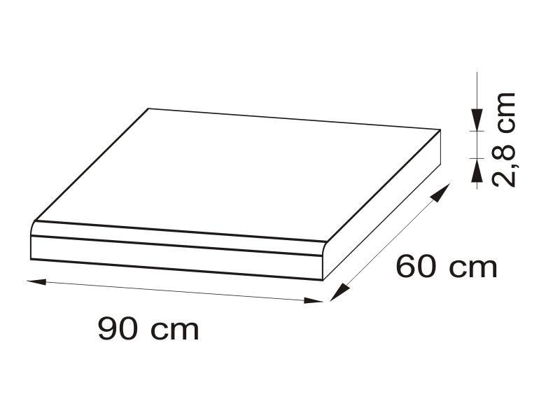 Pracovná doska 90 cm - BRW - Nika - BLAT/90